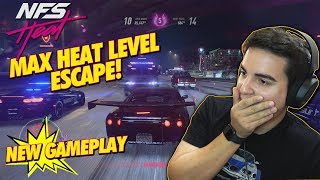 NEED FOR SPEED HEAT! MAX HEAT LEVEL ESCAPE! ( PC MAX SETTINGS )