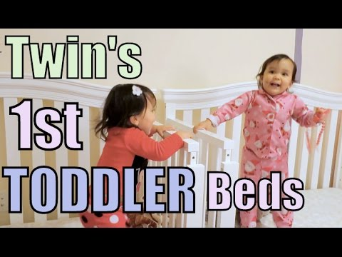TWIN'S FIRST TODDLER BED! - February 17, 2016 -  ItsJudysLife Vlogs