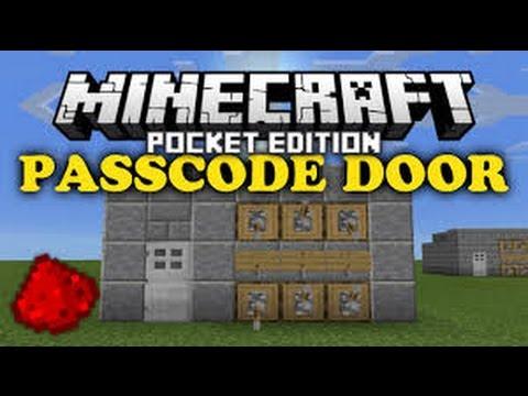 how to make a lever password activated door minecraft