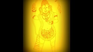How To Draw Hanuman - Tanjore Painting For Beginners