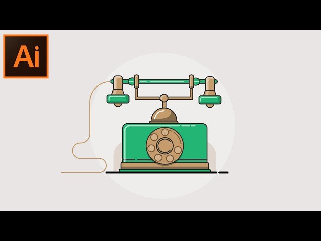 Vector Outline Illustration  Adobe Illustrator CC tutorial