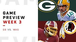 Green Bay Packers vs. Washington Redskins | Week 3 Game Preview | NFL Playbook