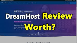 DreamHost  Full Review Speed/Uptime/Ease of Use/Features/Control Panel/Introduction