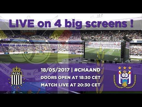 Charleroi - RSCA on 4 big screens !