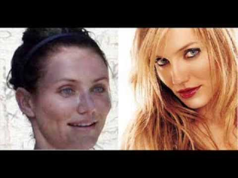 Celebs with and without makeup - YouTube