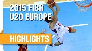 Serbia v Spain - Final - Highlights - U20 European Championship 2015