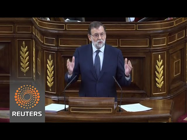 Spanish parliament debates no-confidence motion against PM Rajoy