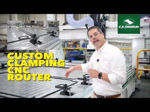 Custom CNC Build - G-Series CNC Router w/custom clamping system for warped composite machining