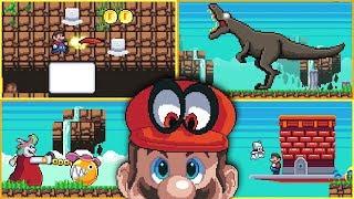 Mario 2Dyssey   Cascade Kingdom!   2D Demake of Super Mario Odyssey