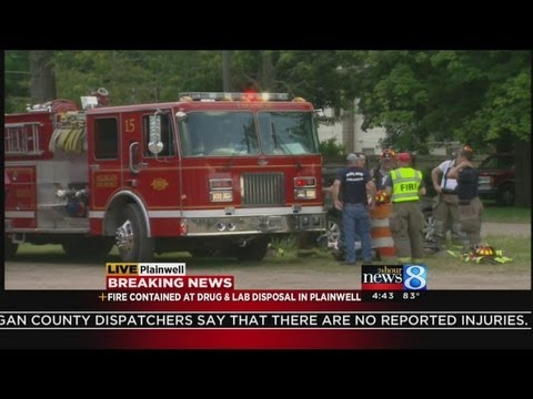 Fire at chemical waste disposal plant