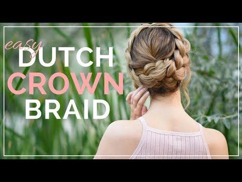 HOW TO: Easy DIY Dutch Crown Braid   Braids by Jordan