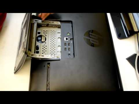 How to open Hp all in one TouchSmart