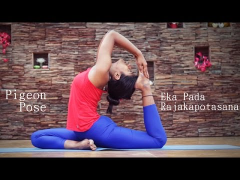 how to do pigeon pose eka pada rajakapotasana  youtube