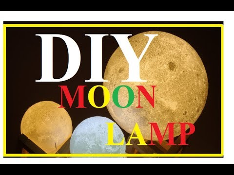How To Make Moon Lamp-2 minute crafts