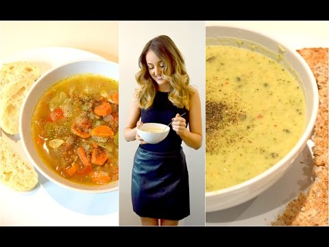 3 LOW-FAT SOUP RECIPES! EASY MEALS FOR WEIGHT LOSS iHerb Collaboration - Melissa Alexandria