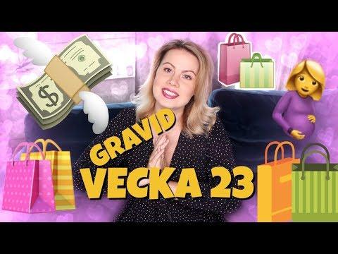 ♡ GRAVID VECKA 23 - Visar lite av vår shopping till bebisen ♡