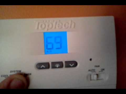 How To Use A Top Tech Thermostat Youtube