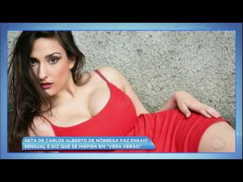 Hora da Venenosa: neta de Carlos Alberto de Nóbrega faz ensaio sensual