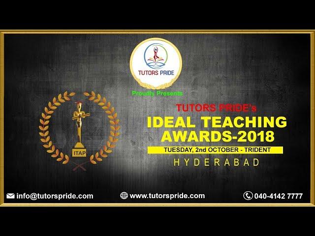 TUTORS PRIDEs IDEAL TEACHING AWARDS - 2018 Mrs.Ramadevi Kulkarni NOMINEE