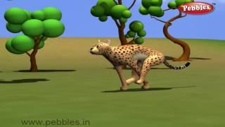 Cheetah Nursery Rhyme | Animal Rhymes | Nursery Rhymes With Lyrics | Nursery Rhymes 3D Animation