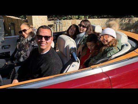 Así disfrutan los últimos momentos del año Jennifer Lopez y Alex Rodriguez