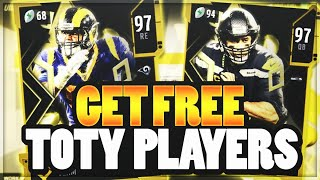 HOW TO GET FREE TEAM OF THE YEAR PLAYERS IN MADDEN 20!! | BEST METHOD TO GET TOTY CARDS MADDEN 20!