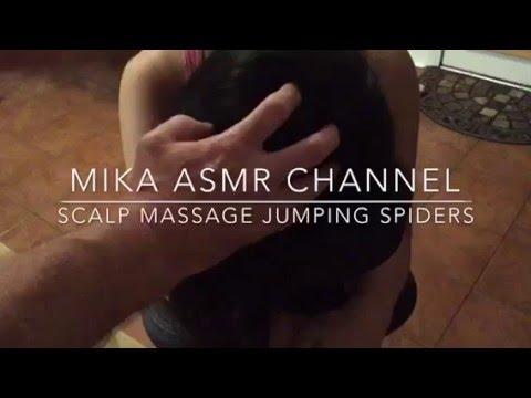scalp massage jumping spiders 🕸🕸🕸🕸🕸🕸