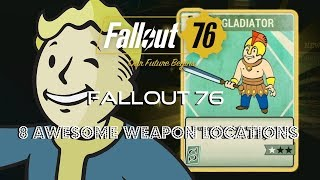 Fallout 76 | 8 Awesome Weapons Locations | Alien Blaster + 50.Cal & More