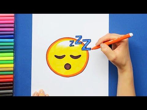 How To Draw Sleeping Face Emoji