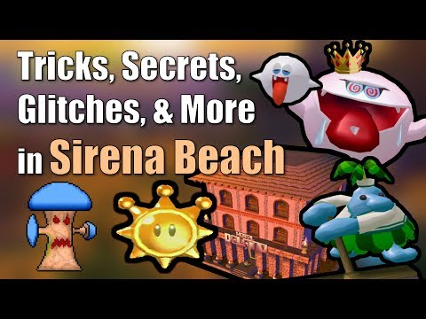 Tricks, Secrets, Glitches, & More in Sirena Beach in Super Mario Sunshine