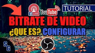 Que es y como configurar el Bitrate de Video en OBS Studio | Actualizado 2018