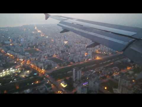 Beautiful landing at Antalya airport Turkey