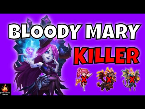 Bloody Mary DESTROYS Best Heroes In Castle Clash