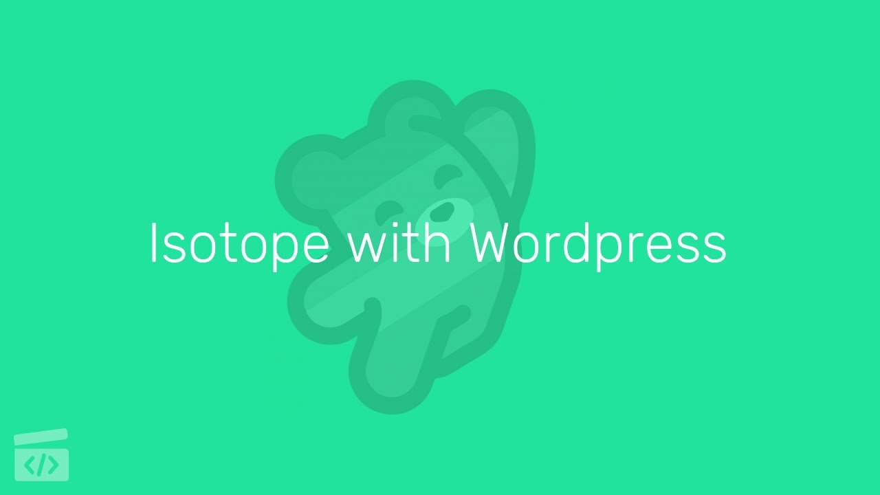 Isotope with Wordpress, Part 4: Filtering our Custom Post Type