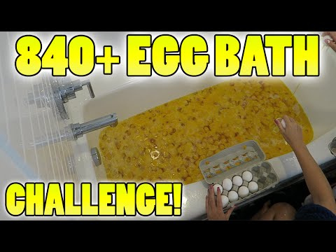 840+ EGGS! INSANE EGG BATH! - BATH CHALLENGE