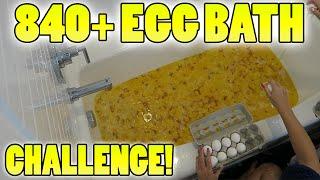 840+ EGGS! INSANE EGG BATH! - BATH CHALLENGE