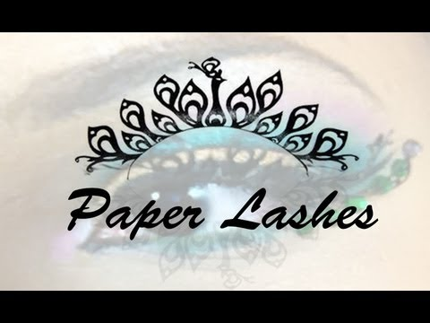 Paper lashes makeup