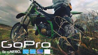 FiRST RiDE ON DiRT BiKE/ Бірінші рет кроссовом мотоцикл/Kawasaki kx 125 2T