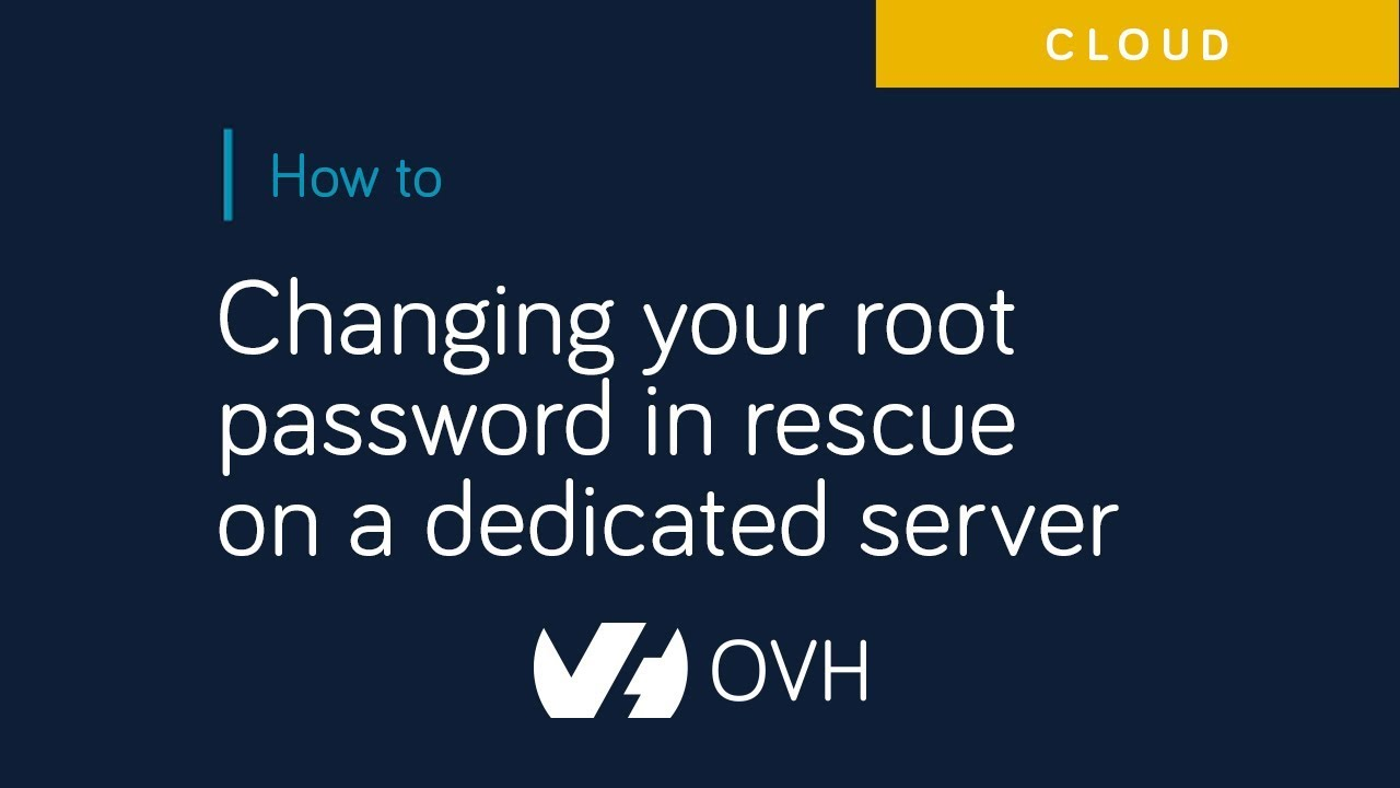 Activating and using rescue mode | OVH Guides