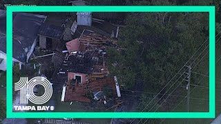 A firefighter and two other people were injured thursday when home exploded in the bradenton area.cedar hammock fire control district says it was called ou...