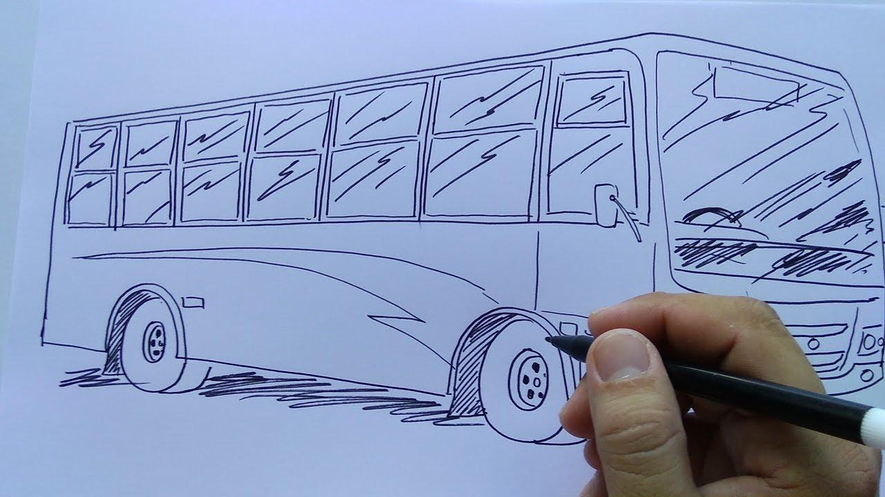 Cara Menggambar Bus Youtube