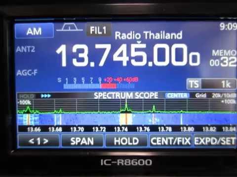 ICOM IC-R8600 13745kHz Radio Thailand