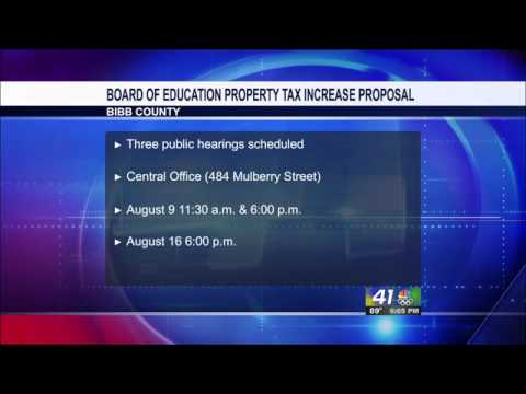 Bibb of Education Property Tax Increase Plans