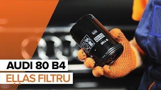 Kā un kad mainīt Eļļas filtrs AUDI 80 (8C, B4): video pamācības