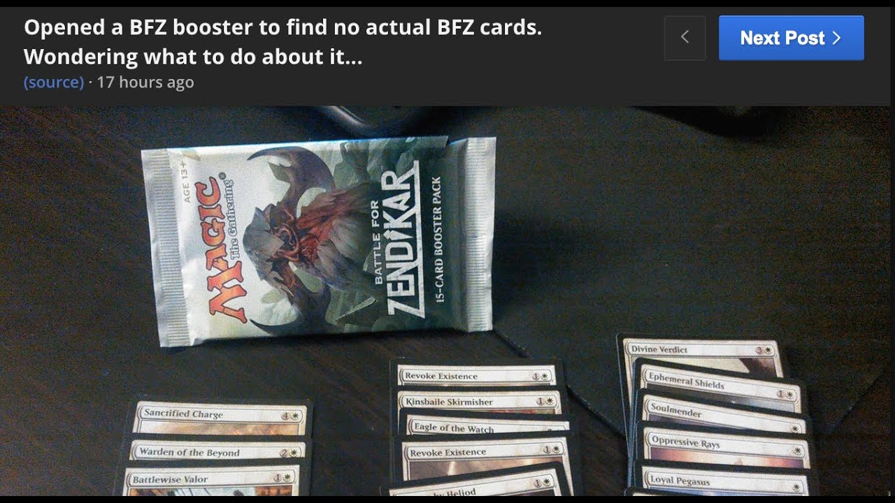 Target Scam Magic the Gathering Booster Packs