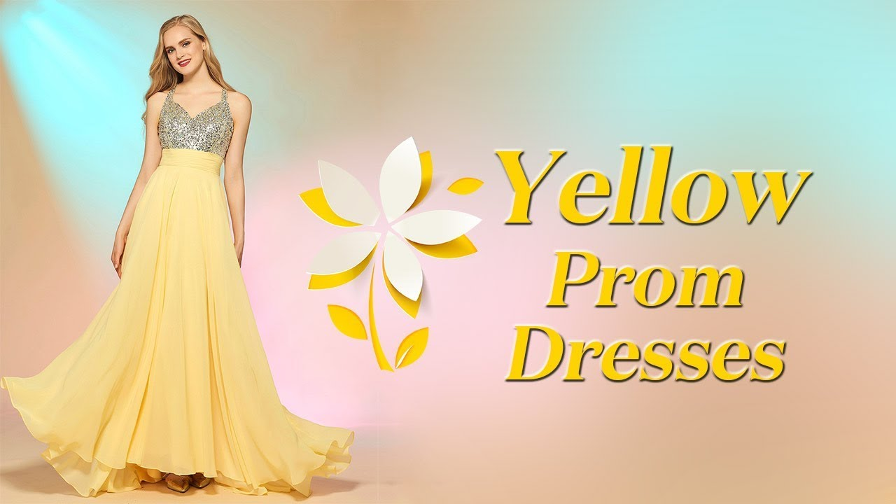 Yellow Prom Dresses Light Yellow Party Dress 2018 Mustard Yellow