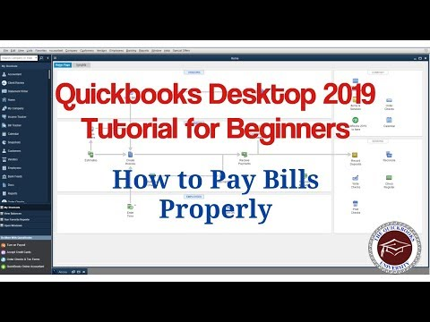 Quickbooks Desktop 2019 Tutorial for Beginners - How to Pay Bills Properly