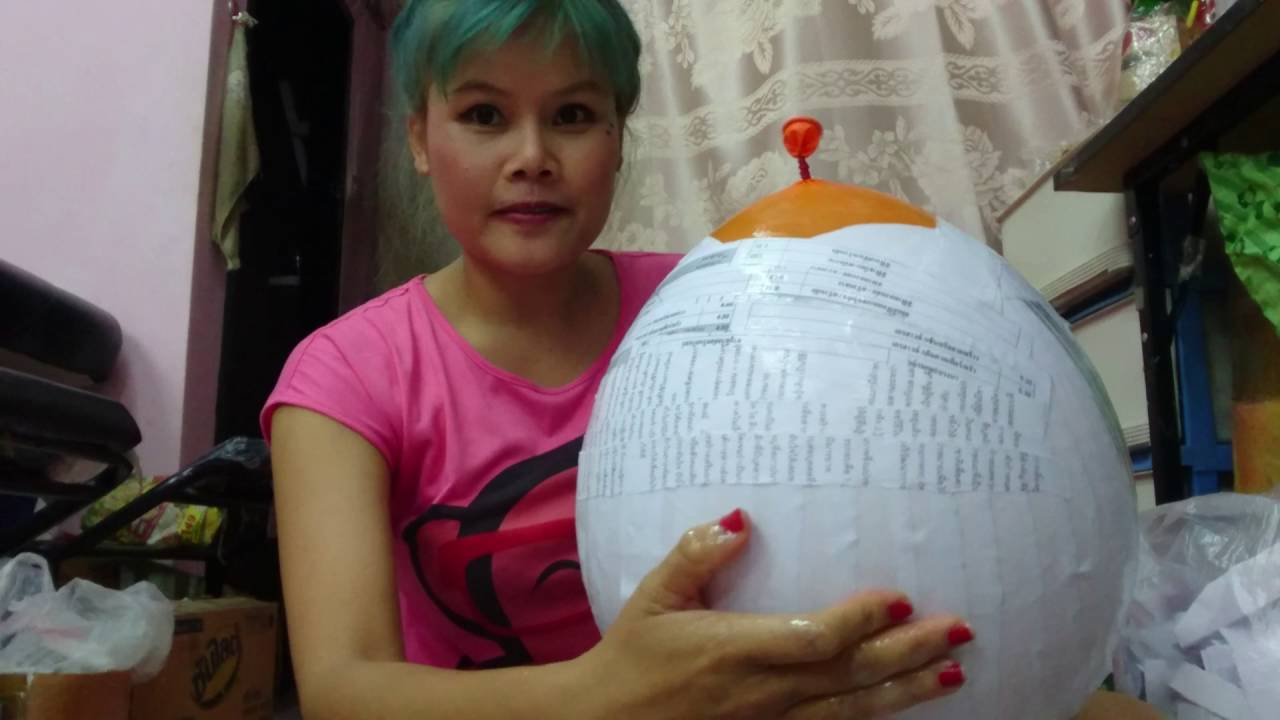 paper mache piggy bank youtube