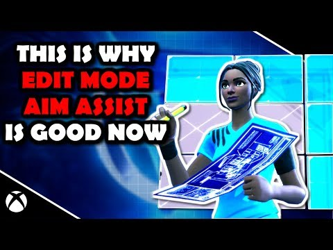 EDIT Mode AIM ASSIST Is GOOD NOW (Fully Explained) Fortnite Battle Royale