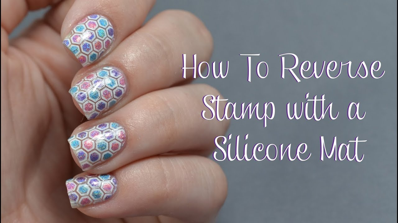 How to reverse stamp using a silicone mat nail art tutorial youtube prinsesfo Gallery